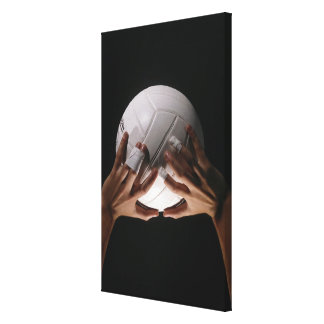 Volleyball Hands Canvas Print