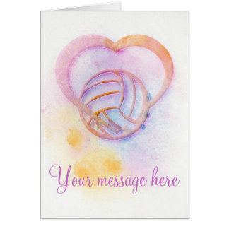 Volleyball Heart Greeting Card