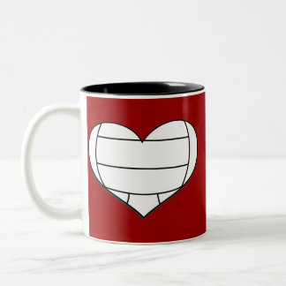 Volleyball Heart Mug
