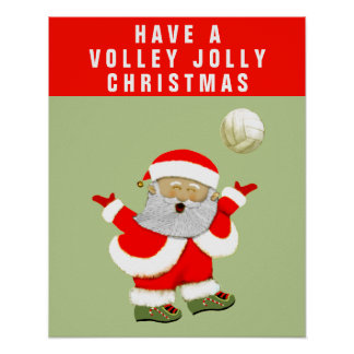 volleyball holiday cheer poster