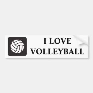 Volleyball Icon Bumper Sticker