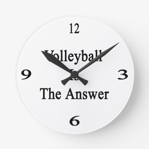 Volleyball Is The Answer Wallclock