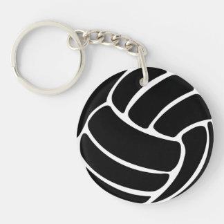 Volleyball Keychain w/Name Black