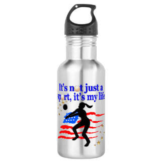 VOLLEYBALL LIFE USA FLAG DESIGN 532 ML WATER BOTTLE