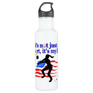 VOLLEYBALL LIFE USA FLAG DESIGN 710 ML WATER BOTTLE