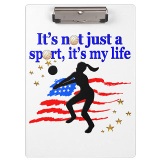 VOLLEYBALL LIFE USA FLAG DESIGN CLIPBOARDS