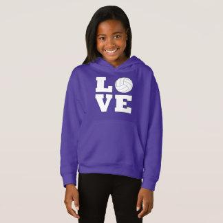 Volleyball Love Girl's Sweathshirt
