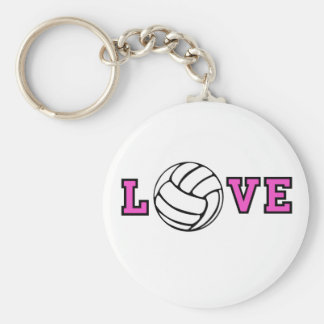 Volleyball Love Key Ring