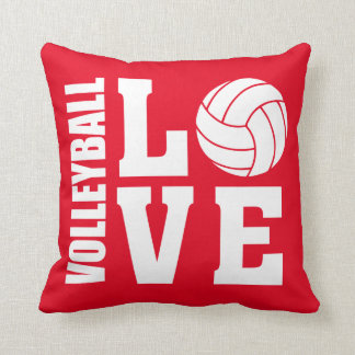 Volleyball Love Red Cushion