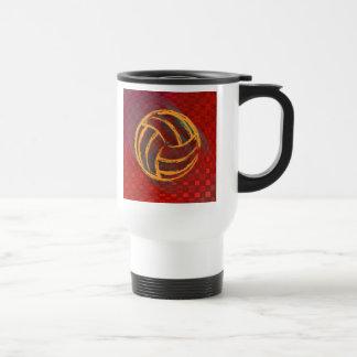 Volleyball Mom Geometric Travel Mug