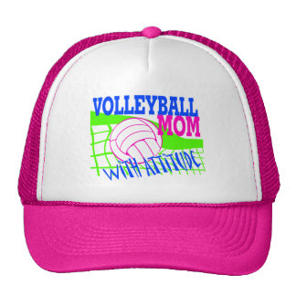 Volleyball Mom With Attitude Mesh Hat