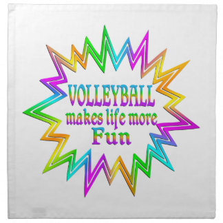 Volleyball More Fun Napkin