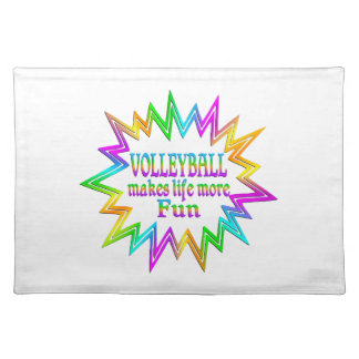 Volleyball More Fun Placemat