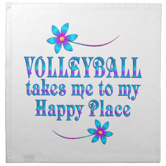 Volleyball My Happy Place Napkin
