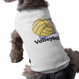 Volleyball net purple shirt