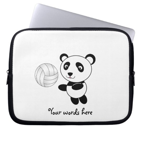 Volleyball panda laptop sleeve
