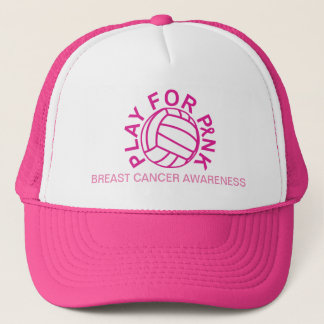 Volleyball Play for Breast Cancer Awareness Hat
