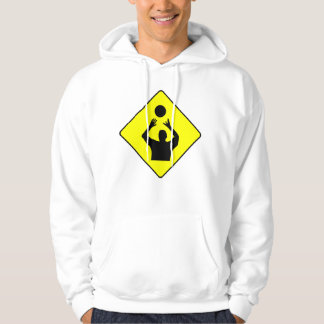 Volleyball Player Crossing Sign Hoodie
