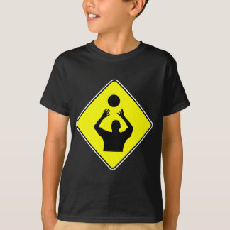 Volleyball Player Crossing Sign T-Shirt