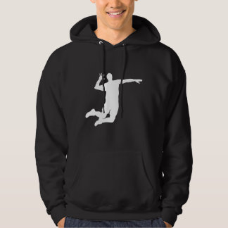 Volleyball Player Silhouette Hoodie