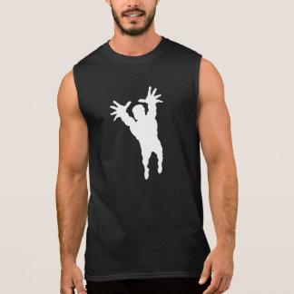 Volleyball Player Silhouette Sleeveless T-shirt