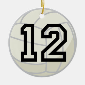 Volleyball Player Uniform Number 12 Ornament