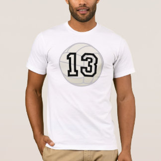 Volleyball Player Uniform Number 13 Gift T-Shirt