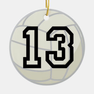 Volleyball Player Uniform Number 13 Ornament