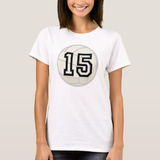 Volleyball Player Uniform Number 15 Gift T-Shirt