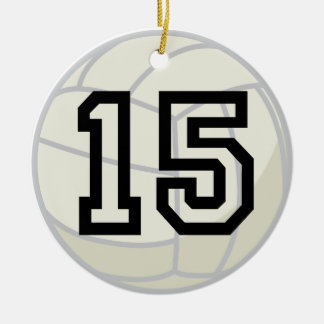 Volleyball Player Uniform Number 15 Ornament