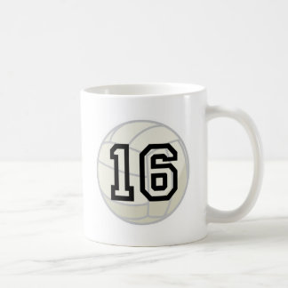 Volleyball Player Uniform Number 16 Gift Coffee Mug