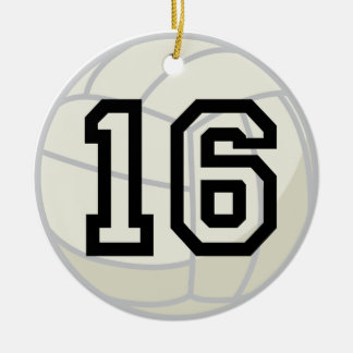 Volleyball Player Uniform Number 16 Ornament