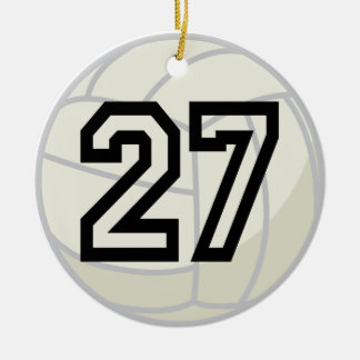 Volleyball Player Uniform Number 27 Ornament