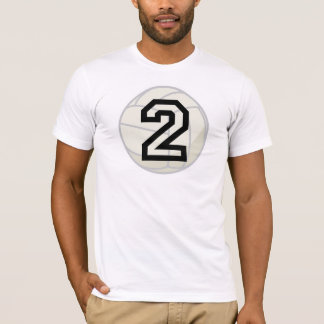 Volleyball Player Uniform Number 2 Gift T-Shirt