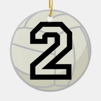 Volleyball Player Uniform Number 2 Ornament