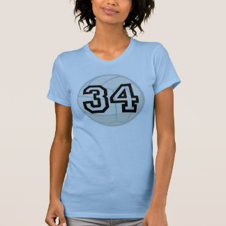 Volleyball Player Uniform Number 34 Gift Tee Shirt