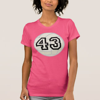 Volleyball Player Uniform Number 43 Gift Tee Shirts