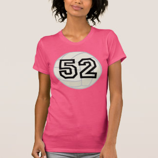 Volleyball Player Uniform Number 52 Gift Tees