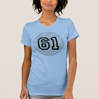Volleyball Player Uniform Number 61 Gift Shirts