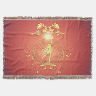 Volleyball player with awesome light effects throw blanket