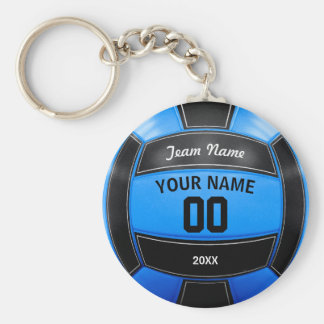 Volleyball Player's Name Year Team Black Blue Key Ring