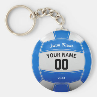 Volleyball Player's Name Year Team Blue Key Ring