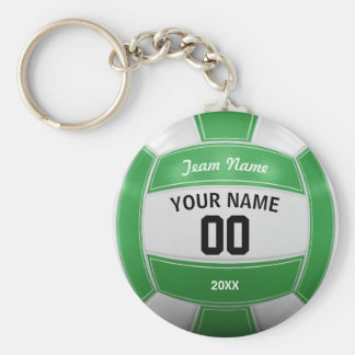 Volleyball Player's Name Year Team Green Key Ring
