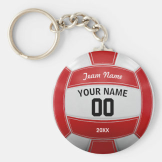 Volleyball Player's Name Year Team Red Key Ring