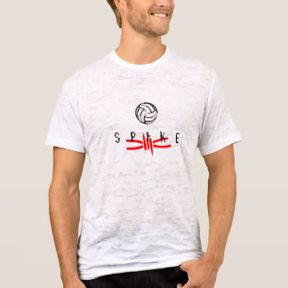Volleyball Red Spike - Burnout T-Shirt