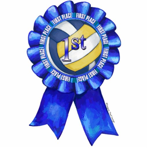 Volleyball Ribbons 1st Photo Cut Out