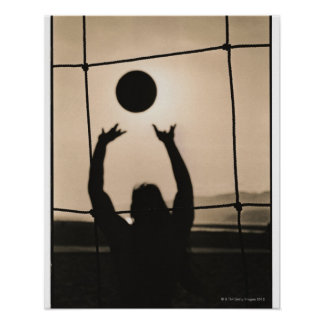 Volleyball Silhouette Poster
