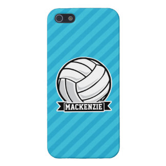 Volleyball; Sky Blue Stripes Case For The iPhone 5