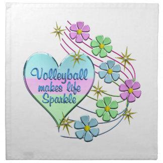 Volleyball Sparkles Napkin