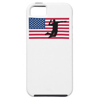 Volleyball Spike American Flag iPhone 5 Case